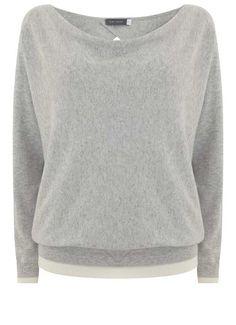 MINT VELVET [New Arrivals] Silver Grey Wrap Back Knit