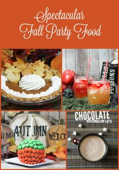 Rock your outdoor fall party with these delicious seasonal party foods!