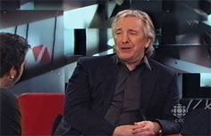 """Interviewer: """"There are some who still think you're Hans from 'Die Hard', and there's the 'Truly, Madly, Deeply' people. There's the 'Love Actually' crowd, then there's the 'Harry Potter' crowd. There's the 'Robin Hood' crowd."""" Alan Rickman: """"It's called, presenting a moving target"""". Interviewer: """"You don't wanna be the type cast at all, do you?"""" Alan Rickman: """"Well, I don't wanna be unemployed."""""""