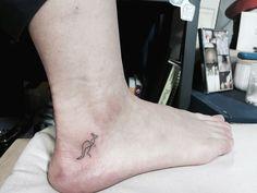 Kangaroo Mini Line Tattoo From Blue Whale Ink Design by _park_tae_ Work In Korea, Seoul, Hongdae Kakao: taemin0509 Insta: _park_tae_ Email: hopetaemin@naver.com Phone: 010.9922.2511 #Bluewhaleink