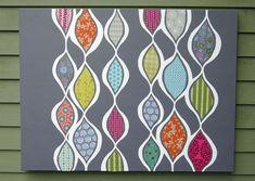 Fabric on canvas