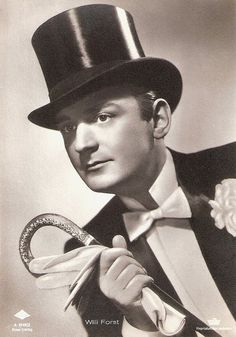 """""""The Austrian actor Willi Forst (1903-1980) was a darling of the German-speaking public. He was also one of the most significant directors, producers, writers and stars of the Wiener Filme, the light Viennese musical comedies of the 1930s. On stage he played in operettas and revues, but also worked with Erwin Piscator and Max Reinhardt"""