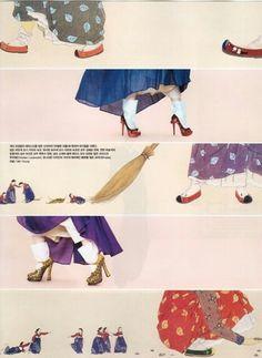 #Hanbok&highheel #Vogue Korea