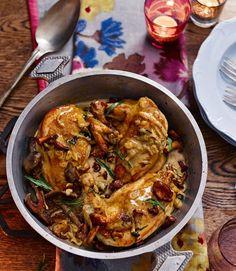 Roast Chicken With Wild Mushroom Sauce Recipe — Dishmaps
