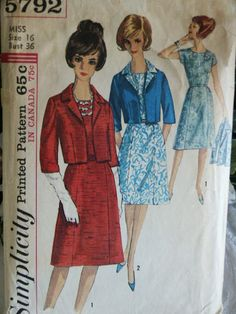 Vintage 1960's One Piece A LIne Kimono Sleeve by LadyJanetvintage, $4.95