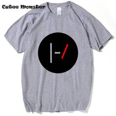 Twenty One Pilots Logo T-Shirt Men 2017 O Neck Short Sleeve Funny 21 PILOTS T Shirt Hip Hop Funny Letter TOP Tee Clothing 3XL