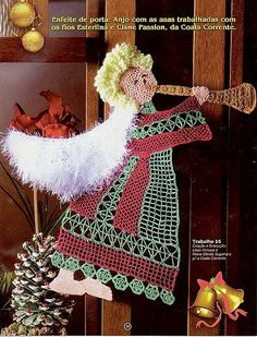 Marvelous are knitting angel on the Christmas tree ...