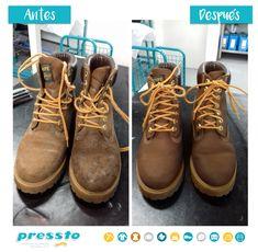 Pressto Bags & Shoes deja tus botas, impecables, sin rastro de manchas. Hiking Boots, Shoes, Fashion, Stains, Boots, Moda, Zapatos, Shoes Outlet, La Mode