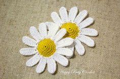 Free Crochet Min Daisy Pattern by Happy Patty Crochet