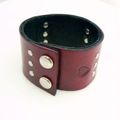 Reversible Leather Cuff bracelet by LuvHed Jewelry