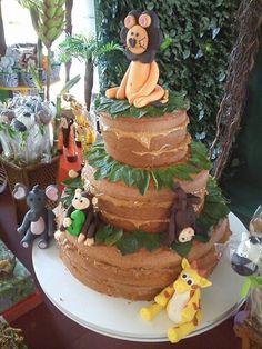 Naked cake infantil, com animais