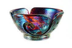 Thais Ceramic Yarn Bowl Spontaneous Carve YB13272 by CHpottery