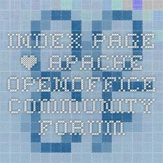 Index page • Apache OpenOffice Community Forum