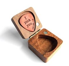 Personalized Custom Engraved Wood Guitar Pick / Wooden Plectrum Musician Valentines Day Gift Wooden Box For gurtar player Gifts For Hubby, Valentines Day Gifts For Him, Wooden Gift Boxes, Wood Gifts, Diy Gifts, Custom Guitar Picks, Custom Engraving, Boyfriend Gifts, Etsy