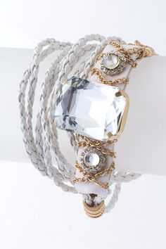 Crystal Bracelet and Braided Twist Bracelets