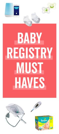 A comprehensive list of baby registry must haves according to what's on thousands of expecting parents baby registries right now. Get your baby registry off to a great start. Best Baby Registry, Baby Registry Items, Baby Registry Must Haves, Baby Registry Checklist, Baby Must Haves, Pregnancy Must Haves, Newborn Essentials, Baby List, Twin Babies