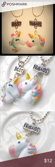 NEW 🦄Unicorn necklace Ceramic like material.  1 pair Chain included. Jewelry Necklaces