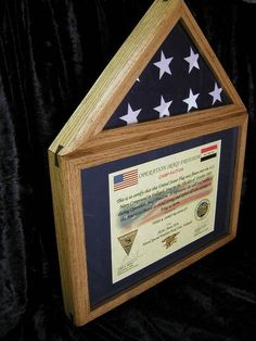 Flag Display Case, Military Shadow Box, Eagle Lake, Challenge Coins, Woodworking Projects, Cool Stuff, Holiday Decor, Retirement, Frame