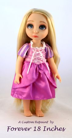 CUSTOM RAPUNZEL REPAINT for Debbie Part 2 of 2 by Forever18Inches