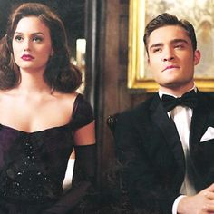 The worlds perfect couple! I love this look and Blair's red lipstick <3