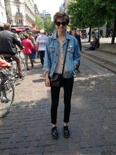 FOREVER 21 Chemise, chemisier, tunique - DR MARTENS (DOC MARTENS) Chaussures divers #women #mode #look #streetstyle http://moodlook.com/look/2014-04-24-france-paris-3