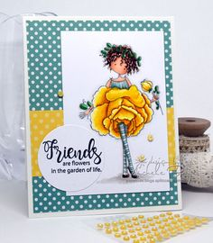 Friends are Flowers (stamping bella)