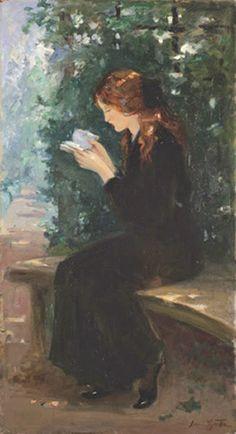 ✉ Biblio Beauties ✉ paintings of women reading letters & books - Laura Muntz Lyall