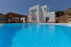 Tango Luxury Villa to Rent in Mykonos - White Villas Unique House Plans, Dream House Plans, Zen, Luxury Villas In Greece, Huge Houses, Design Your Own Home, Mediterranean House Plans, Garden Villa, Greece Vacation