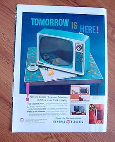 1958-TV-Television-Ad-GE-General-Electric-Tomorrow-is-Here-Designer-TV