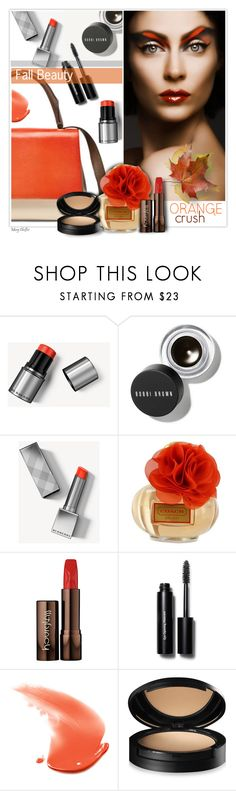 """""""Fall Beauty: Orange Crush"""" by mcheffer ❤ liked on Polyvore featuring beauty, Burberry, Bobbi Brown Cosmetics, Coach, Hourglass Cosmetics, Dermablend and orangecrush"""