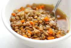 Basic Lentil Soup (adapted from Mark Bittman's How to Cook Everything Vegetarian)