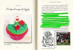 Beijos Açucarados  Cupcake Alice no País das Maravilhas (Rosas Cor de Carmim)