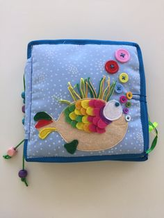 Fish Quiet Book by BeBiBook on Etsy