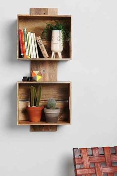4040 Locust Stacked Crate Wall Shelf