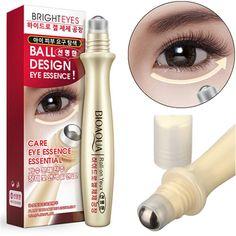 Bioaoua rodillo de crema para los ojos húmedos contra la hinchazón ojeras hidratación se desvanecen las arrugas líneas 15ml