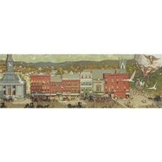 Norman Rockwell's painting of downtown Pittsfield, Mass.