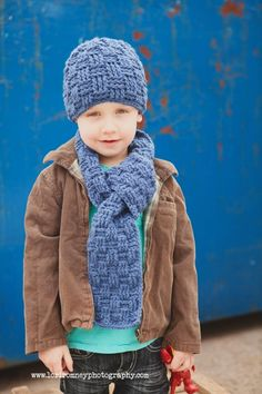 Bryson Crochet Scarf and Hat