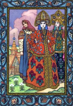 Boris Zvorykine.  Love this Russian style of illustration.