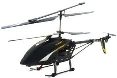 """Big Size SPY HAWK 3.5CH Metal RC helicopter RTF + Gyro and SPY Camera + FREE 1GB SD memory card - Large Size 12"""" wide by RC Camera Helicopter. $97.99. Remote Control Features: 27.145 MHz frequency On/Off Indicator light Up/Down control stick Forward/Backward/Left/Right control stick Trimmer (rudder) control Tail motor speed switch  Camera Button Light Switch Voltage Indicator. Sharp black color Remote control helicopter 27.145 MHz Large 1:25 Scale. 3-channel Gyro Syst..."""