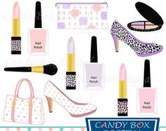 Beauty Collection Digital Clipart Cosmetic by GraphicPassion