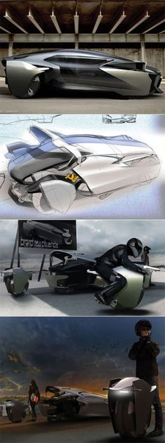 Bobin Kil's car concept with removeable, driveable wheels Posted by hipstomp / Rain Noebig solution: suburbs.. long distance with the car, near centres, wheel used .. , ... the parked car is quite smaller, then secure, the little part is used inside city: more to be declined with that idea ...