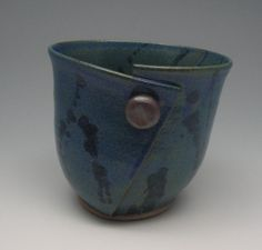 Hand Carved Pottery Mug by sonjagloria on Etsy