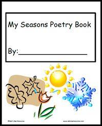 Seasons Poetry Book Freebie from www.RakisRadResources.com
