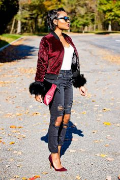 "e8bc6b2a950d ecstasymodels  "" Faux Fur Bomber The Daileigh "" BGKI - the  1 website to"
