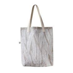 Tote Bag – Eucalyptus White/Natural | Maya Muse Textiles
