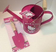 Hello Kitty Garden Shovel Tool and Water Pail Pink New #Sanrio