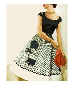 Vintage 1950s Crocheted Flower Overskirt for Circle Poodle Skirt PDF Crochet Pattern. $3.00, via Etsy.