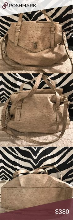 Holding for bad trade with Sasha Absolutely beautiful almost new no imperfections whatsoever authentic Marc by Marc Jacobs Ozzy bag off white ostrich leather purse. With large shoulder straps as well as a detachable Crossbody  as well as large coach bag with detachable Crossbody strap packed with care and extra goodies Marc by Marc Jacobs Bags Crossbody Bags