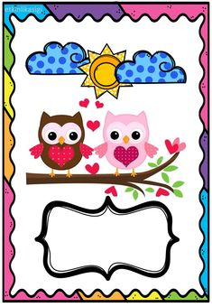 karne örneği Classroom Helpers, Owl Classroom, Kindergarten Coloring Pages, Kindergarten Crafts, Carnival Crafts, Boarder Designs, Owl Books, Theme Pictures, School Clipart