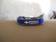 Euro Bracelet GREECE World Cup Bracelet by ifancy on Etsy, $30.00